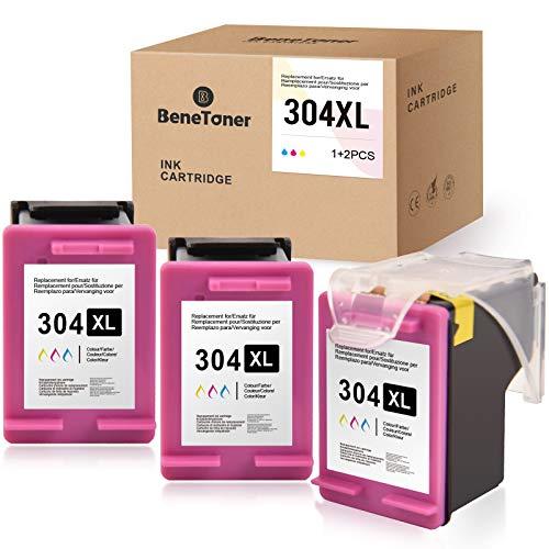 BeneToner Lot de 3 cartouches d'encre compatibles avec HP 304 304XL pour HP Envy 5010 5020 5030 5032 Deskjet 2620 2622 2630 2632 2633 2634 3720 3730 (3 Couleur)