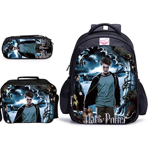 LLYDIANJunior Rucksack für Kinder 3D Harry Potter-Bleistift-Beutel Isolierung Lunch Bag One-Schulter-Make-up-Tasche Kindergarten Grundschule Schultasche (Color : 5, Size : 42x32x17cm)