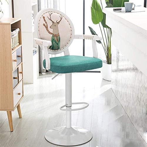 Taburetes para mostrador de cocina retro ajustable giratorio taburetes giratorios de barra de elevación de gas taburetes de barra de bar, sillones, sillas y taburetes de bar (color: Q)-Q