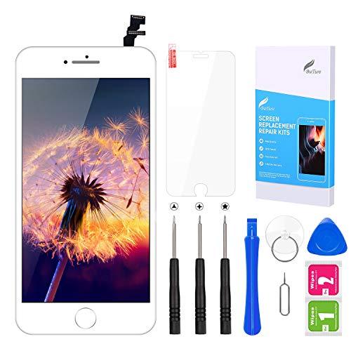 BuTure Écran iPhone 6 Blanc Remplacement de l'écran iPhone 6 Tactile LCD Kit de Réparation avec Outils (iPhone 6 Blanc 4.7 Pouces)