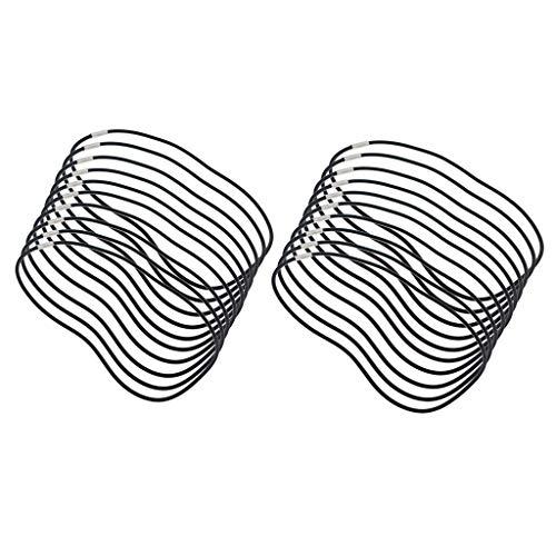 Milageto 20 Piezas de Caucho Negro Cadenas de Cable Extensor Colas DIY Joyería Colgante Artesanías