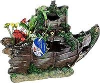 Penn Plax RR811 Sunken Gardens Shipwreck Bow Large