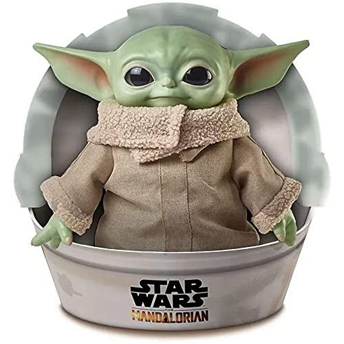 Oferta de Star Wars Baby Yoda El niño de la Serie The Mandalorian, Figura Peluche de 28 cm (Mattel GWD85)
