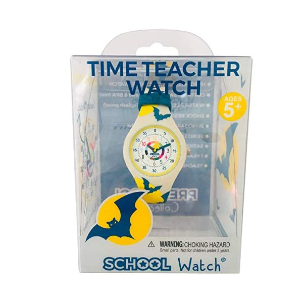 Time Teacher School Watch – Teach Your Child to Tell Time in 5 Minutes Thanks to The Most Intuitive Dial! Hypoallergenic Kids Silicone Watch with with Shock Resistant Movement