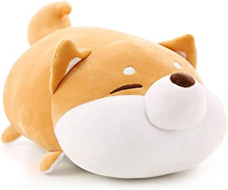 Auspicious beginning Shiba Inu Plush Throw Pillow Cute Corgi Akita Stuffed Animal Soft Plush Doll Dog Kawaii Plush Toy (Br...