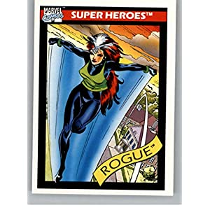 1990 Impel Marvel Universe #41 Rogue Non Sport Entertainment Trading Card in Raw (NM or Better) Condition