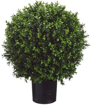 26 Inch Tall Boxwood Ball Shaped Artificial Topiary w Pot Indoor Outdoor product image