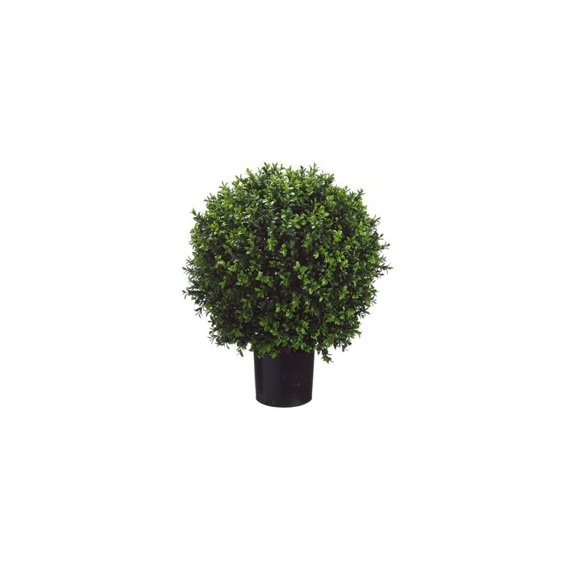 silk flower arrangements 26 inch tall boxwood ball-shaped artificial topiary w/pot indoor/outdoor
