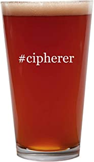 #cipherer - 16oz Beer Pint Glass Cup