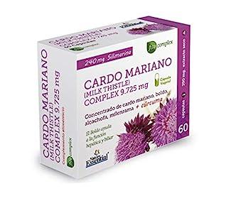 NATURE ESSENTIAL   Cardo Mariano Complex   9.725 mg   Con Boldo, Milenrama, Alcachofa y Cúrcuma   Contribuye al Potencial Detoxificante del Hígado   Aydua a la Función Hepática y Biliar   60 Cápsulas
