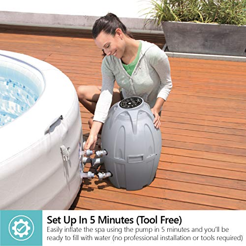 Lay-Z-Spa Vegas Hot Tub with 87 Airjet Massage System Inflatable Spa with Rapid Heating, 4-6 Person