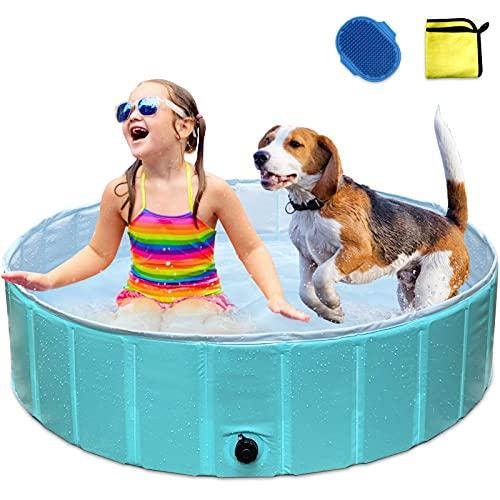 MARUNDA Foldable Dog Pet Bath Pool,Portable Plastic Kiddie Pool for Kids, Dog Swimming Pool for...