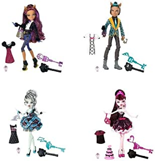 Monster High Sweet 1600 Complete Set Draculaura, Clawdeen Wolf, Clawd Wolf, Frankie Stein