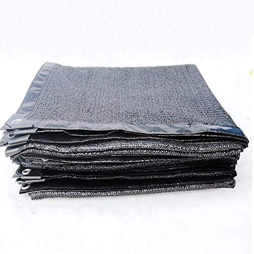 Mirui - Sombra de tela Sun Shade 85% Shading para hogares de firme, patio balcón, 22 Greenhouse tamaños (color: negro, tamaño: 3 x 5 m) Tamaño: 4 x 8 m Color: Negro, negro, 2x2m