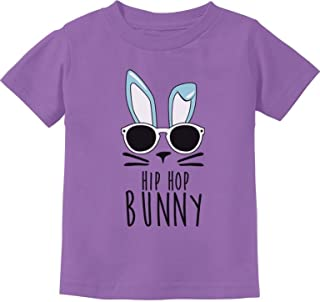TeeStars - Hip Hop Bunny Funny Gift for Easter Toddler/Infant Kids T-Shirt - Purple - 24M