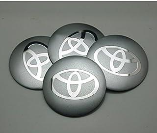 benzee 4pcs d121Plata 56,5mm Coche Emblema Insignia Pegatina Centro de rueda Hub Caps Cover