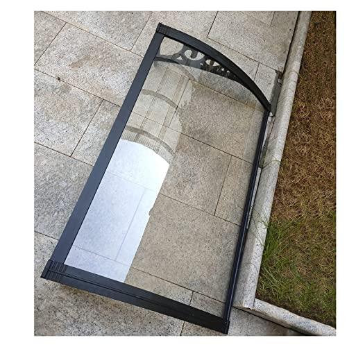 CAIJUN Toldo De Ventana,Exterior Anti-UV Transparente Policarbonato Cubrir para Marquesinas Exterior Balcón Porche,Protección contra La Lluvia Sun Shetter,Personalizable (Tamaño : 80cmx80cm)