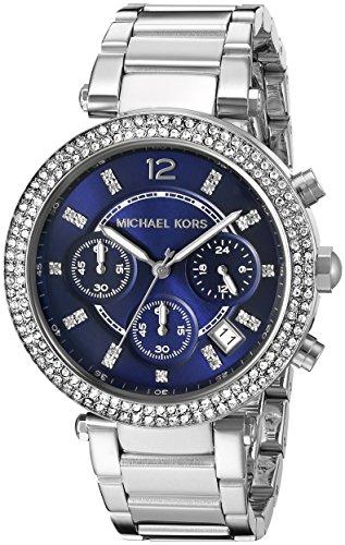 Relógio feminino Michael Kors Parker prateado MK6117