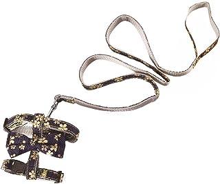 Pet Cat Harnesses Vest Collar Tie Necktie Walking Lead Grooming Accessries Gold