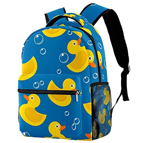 Mochila de ganso de pájaro de tortuga en un estanque para estudiante niña, bolsa para el trabajo de viaje escolar durable lindo impresión Bookbag, Multi-20.,