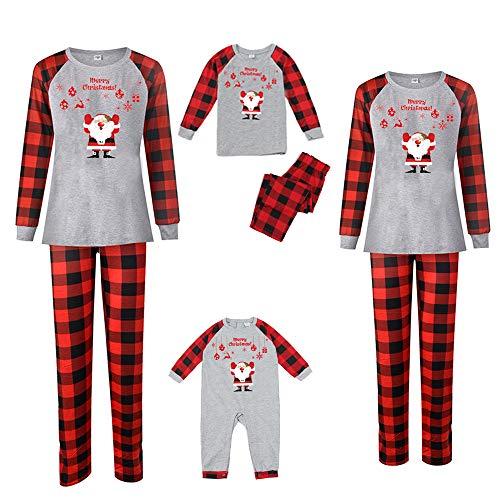 Matching Family Pajamas Set Christmas Pants Cotton Pjs SetSanta Outfit Sleepwear (Baby, 12-18M)