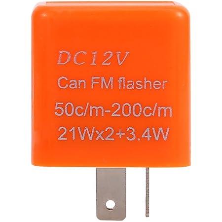 Keenso 2 Pin Blinkrelais 12v Universal Motorrad Elektronische Blinker Licht Relais Orange Auto