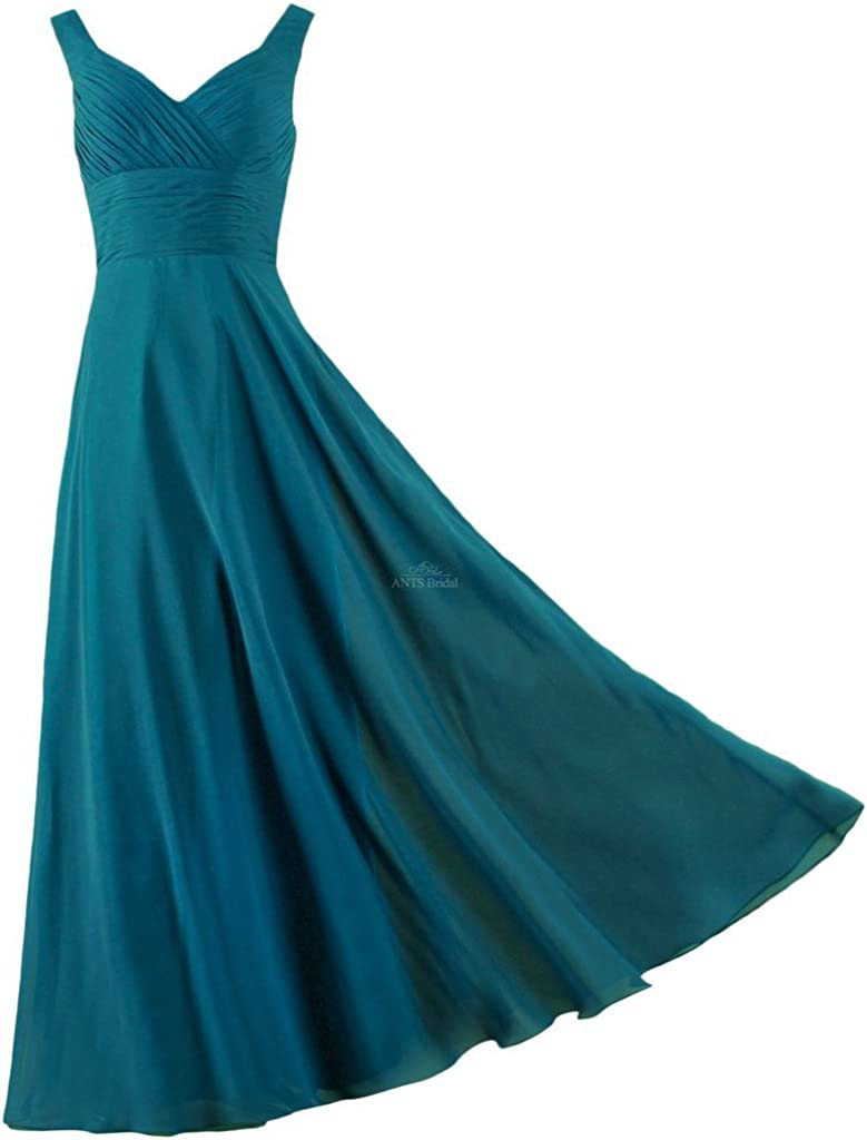 ANTS Formal Straps Pleated Long Ranking TOP3 Bridesmaid Tulsa Mall Prom Straight Dresses