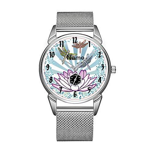 Reloj de pulsera para hombre de acero inoxidable, resistente al agua, de la marca de Lotus Libelle