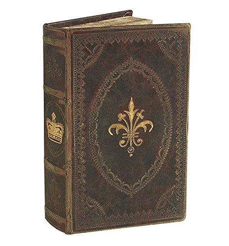 zeitzone Hohles Buch Geheimfach Lilie Krone Antik-Stil Buchversteck 21x12,5cm