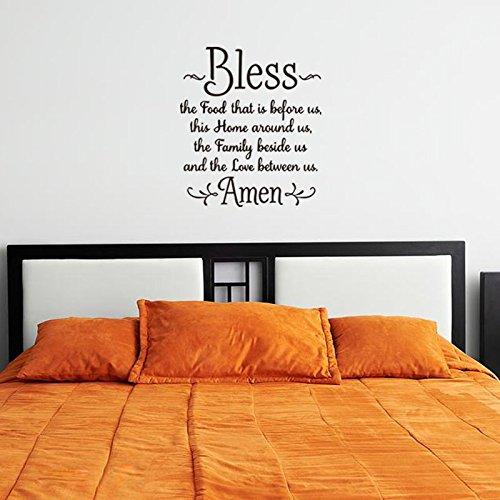 Spreuk muursticker platte muur decoratie voor woonkamer decoratie 57X64,5 cm