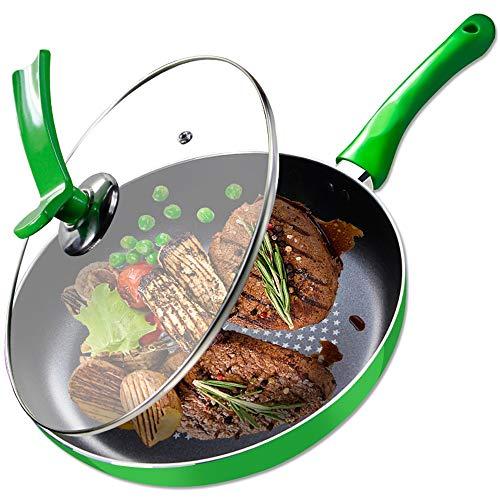 HBJFD Pfanne, Antihaft-Pfanne, Bratpfanne, Erdgas-Gaskocher Universal, Küche runder Boden gebratener Steak-Topf, Rührei-Topf, Einhand-Topf