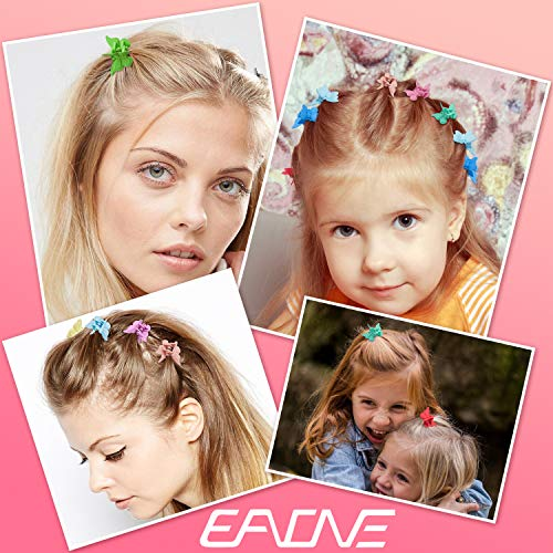 EAONE 50 Pieces Butterfly Hair Clips Mini Hair Claw Clip Jaw Clips for Girls Women with Box Package, 14 Assorted Colors