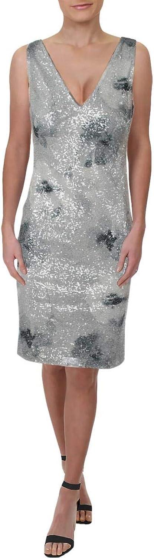 Lauren Ralph Lauren Womens Sequined Evening Cocktail Dress