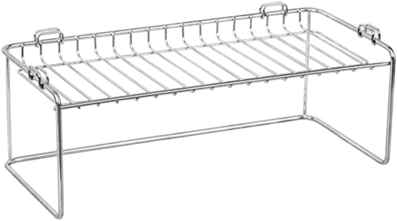 Kitchen Storage Rack Single Layer Spice Rack 304 Stainless Steel Kitchen Shelf Landing (color   1-Tier)