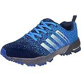 Wealsex Zapatos para Correr En Montaña Asfalto Aire Libre Deportes Zapatillas De Running para Hombre (46, Azul Claro)