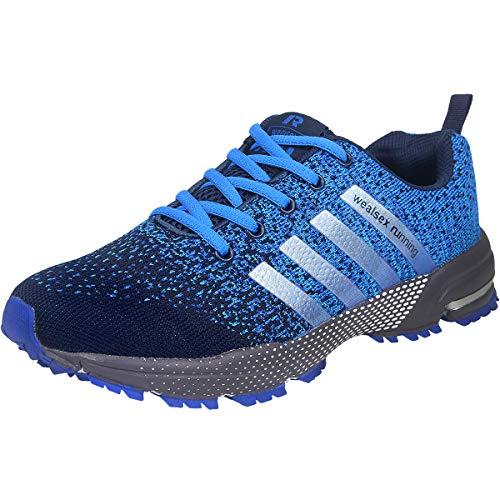 Wealsex Zapatos para Correr En Montaña Asfalto Aire Libre Deportes Zapatillas De Running para Hombre (42, Azul Claro)
