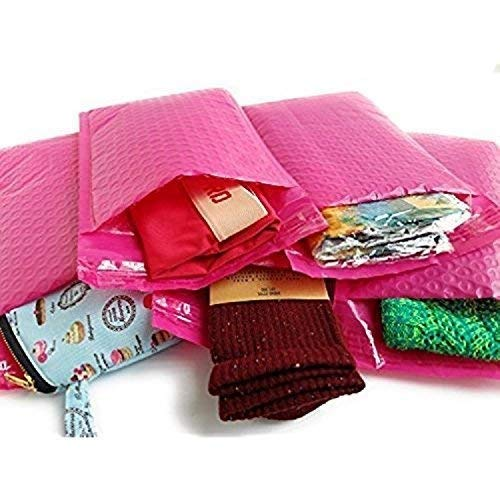 BESTeck Hot Pink Poly Bubble Mailers - 8.5X12 Inch Self Adhesive Padded Bubble Mailers � Waterproof Tear Resistant Envelopes (Pack of 10)