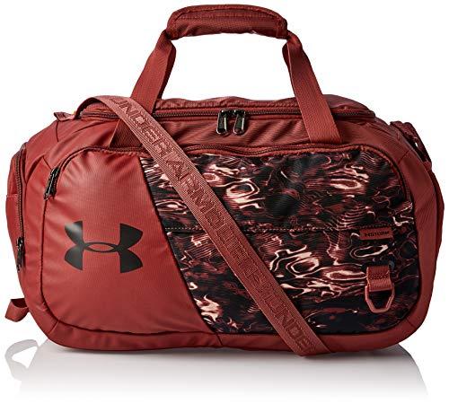 Under Armour Bolsa de gimnasio Undeniable 4.0 para adultos, color rojo Cinna (688)/blanco, XS