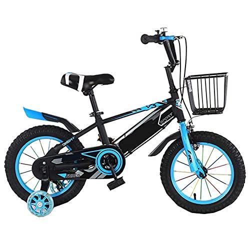 Bicicleta para Niños De Acero con Alto Contenido De Carbono 3-5-6-10-12 Años Freno De Disco Doble 12-18 Pulgadas Bicicleta Ligera para Estudiantes,C,12