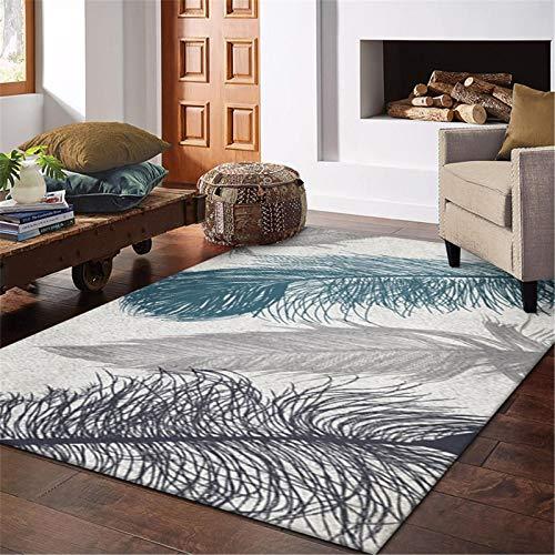 MMHJS Textiles para El Hogar/Alfombras Rectangulares De Plumas/Alfombras para Dormitorio Y Sala De Estar/Agradable A La Piel/Slip-Slip 120x180cm