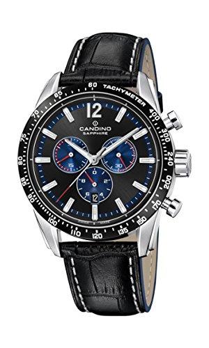 Candino Herren Chronograph Quarz Uhr mit Leder Armband C4681/3