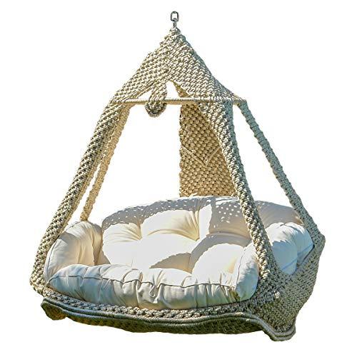 Empfehlung: Luxus Hängesofa Nido Royal mit Kissen  von Lola Hängematten*