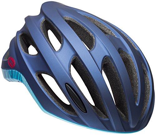 BELL Nala Adult Road Bike Helmet - Matte/Gloss Navy/Sky Fibers (2018), Small -52-56 cm