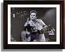 johnny cash signed picture
