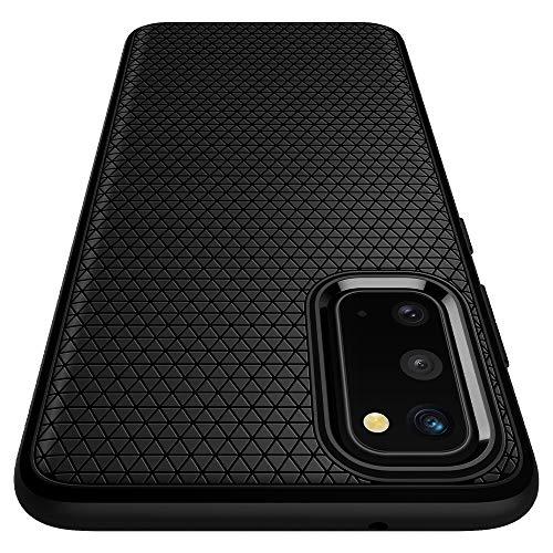 Spigen Liquid Air Hülle Kompatibel mit Samsung Galaxy S20 -Matte Black