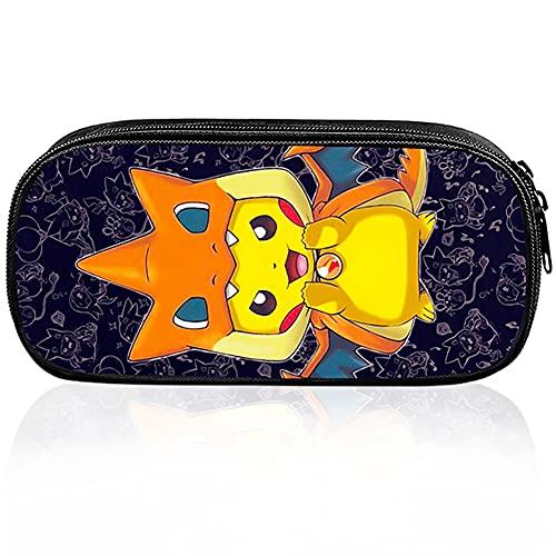 ALHX Pikachu Potlood Case, Pokemon Potlood Case, Anime Cosplay Potlood Case, Black Pencil Case Bag, Pen Bag Pouch Houder…