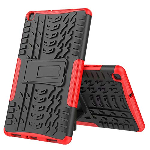 Nieuwe Tablet Case voor Samsung Tab ONE 8.0 inch 2019 T290 T295 T297 Back Cover 2 in 1 Silicon zachte harde Stand Armor Heavy Rugged case Rood