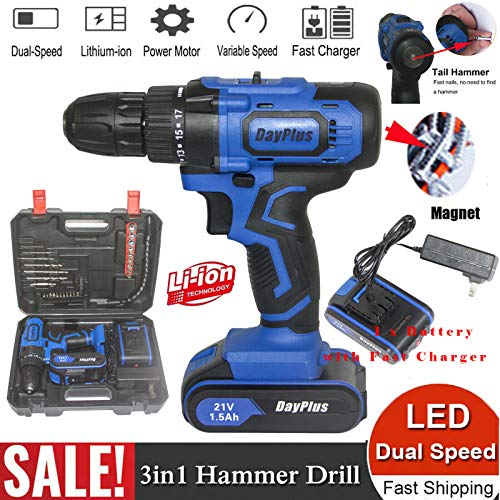 Fantastic Prices! Electric Screwdriver with new Functions which are Magnet and Built-in Hammer, Vari...