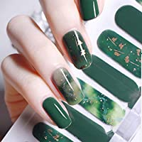 [Ziv-Nat]ネイルシール 草色 貼るだけマニキュア レッド 20ピース ネイルステッカー 新緑 ネイルアート ネイルラップ ネイルアクセサリー 森ガール ネイルシール 貼るだけ グリーン