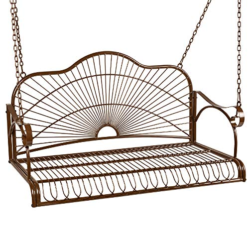 Best Choice Products Hanging Iron Porch Swing...